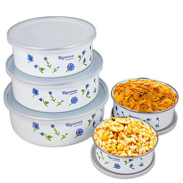 Set of 5 New Attractive Containers - White