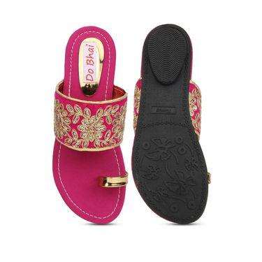 Do Bhai Suede Flats KM-022-Pink