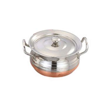 Klassic Vimal Copper Bottom Utensils set Of 15 Pcs-Silver