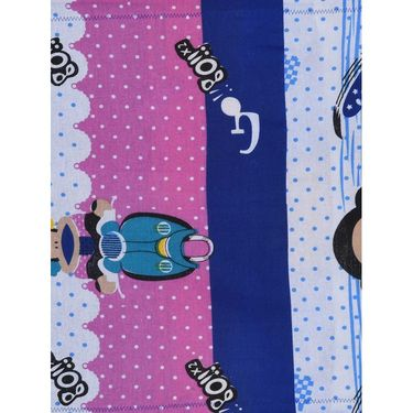 Storyathome 100% Cotton Kids Single Bedsheet with 1 Pillow Cover-KZ1401
