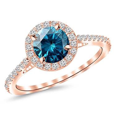Kiara Swarovski Zirconia Sterling Silver Ring - Teal Blue