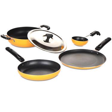 5 Pcs Coloured Induction Friendly Non Stick Cookware Set