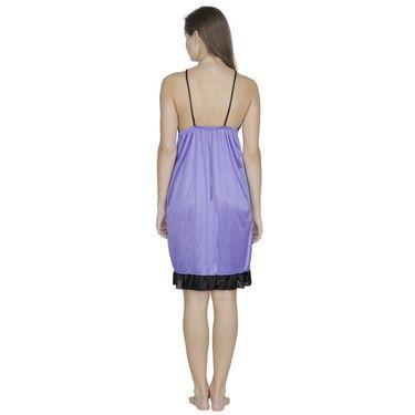 Klamotten Satin Plain Nightwear - Purple - Fu22_Mauve