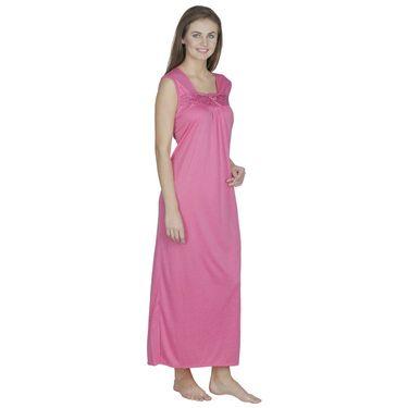 Klamotten Cotton Plain Nightwear - Pink - X58_Pink