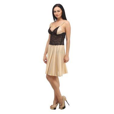 Klamotten Satin Plain Nightwear - Beige - YY06