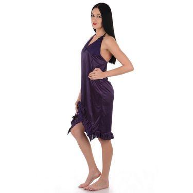 Klamotten Satin Plain Nightwear - Purple - YY131