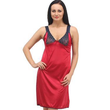 Klamotten Satin Plain Nightwear - Red - YY15