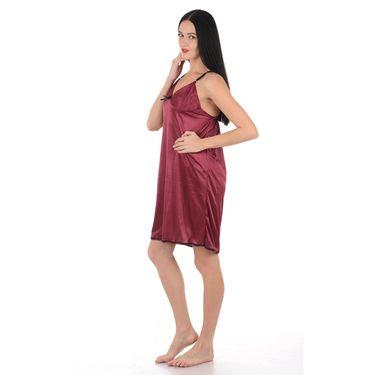 Klamotten Satin Plain Nightwear - Purple - YY33