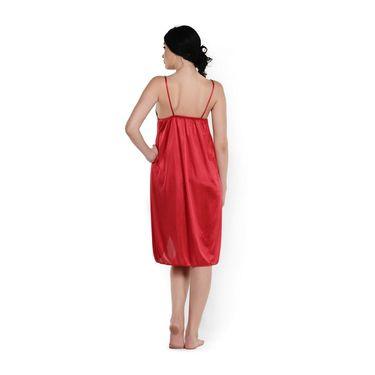 Klamotten Satin Plain Nightwear - Red - YY40