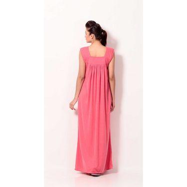 Klamotten Cotton Plain Nightwear - Pink - YY58