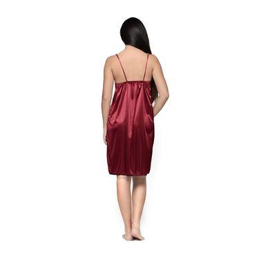 Klamotten Satin Plain Nightwear - Red - YY63