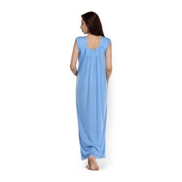 Klamotten Cotton Plain Nightwear - Blue - YY87