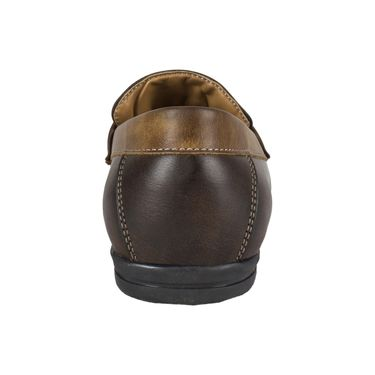 Yellow Tree Synthetic Leather Loafers Shoes Kwalk-Brown