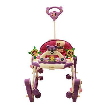 Baby Walker N Rocker Musical with Tray - Purple