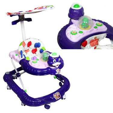Duck Musical Walker with Tray And Canopy - Purple