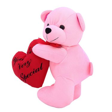 Valentine Stuff Heart Carry Teddy Bear 30 Cms - Pink