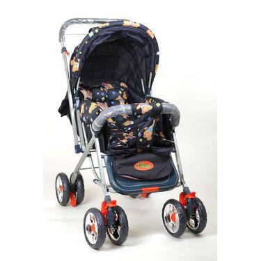 Pram Comfort Cushioned Crome Wheel Assorted Colour