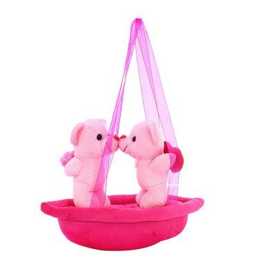 AppleCouple Boat Valentine Stuff Teddy - Pink
