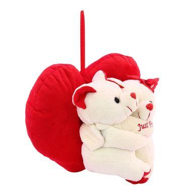 Hug WithHeart Valentine Stuff Teddy - White