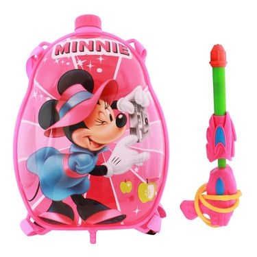 Holi Water Pichkari Back Pack Cartoon Tank Squirter F11 - Pink