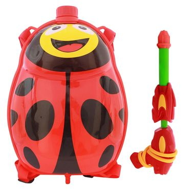 Holi Water Pichkari Back Pack Cartoon Tank Squirter F34 - Red