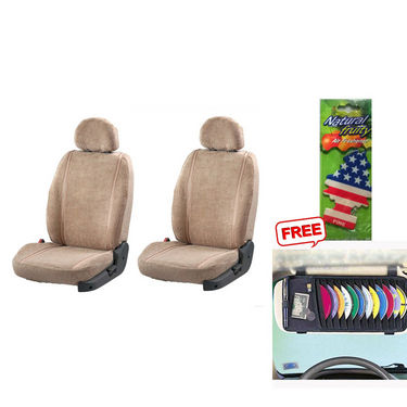 Latest Car Seat Cover for Chevrolet Beat - Beige