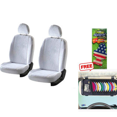 Latest Car Seat Cover for Ford Fiesta Classic - White