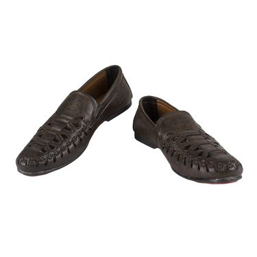 Yellow Tree Synthetic Leather Loafers Shoes Leefox-G8117-Brown