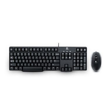Logitech MK100 Classic Desktop Keyboard and Mouse - Black