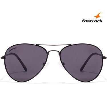 Fastrack Aviator Sunglasses For Unisex_M069bk3 - Grey
