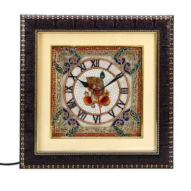 Lord Ganesh Painting Marble Wall Clock-MAR15379