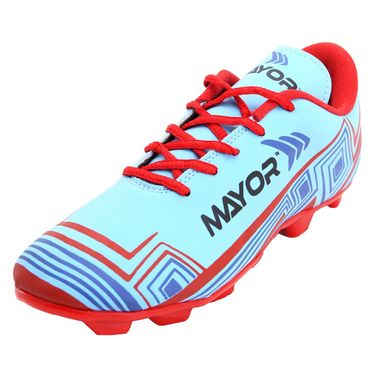 Mayor Sky Blue - Red Casilla Football Studs - 8