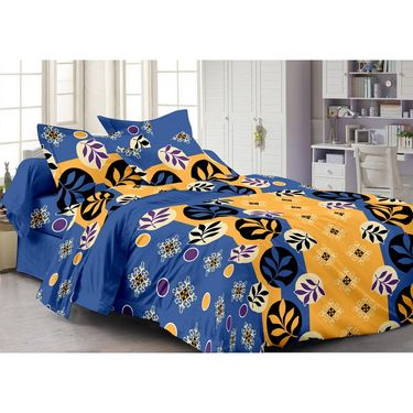 Storyathome 100% Cotton Double Bedsheet With 2 Pillow Cover-MG1444