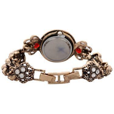 Branded Round Dial Bracelet Diamond Wrist Watch_Mgw08 - Black