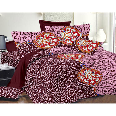 Valtellina Double Bed Sheet with 2 Pillow Cover-MO-105