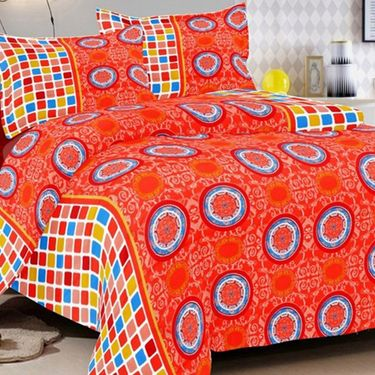 Valtellina Set of 3 Double Bedsheet With 6 Pillow Cover.-MO-18