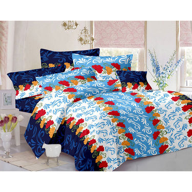 Valtellina Double Bed Sheet with 2 Pillow Cover-MO-225