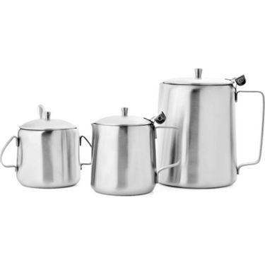 Mosaic 4Pcs Conical Tea Set  - Silver