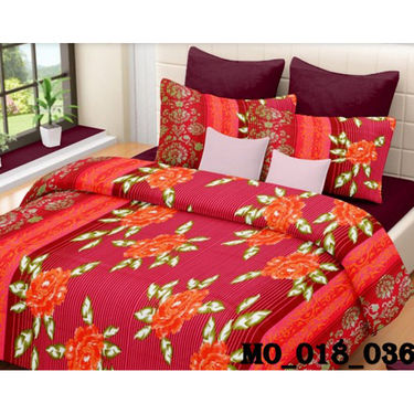 Set of 2 Valtellina Double Bedsheet With 4 Pillow Cover-MO018036