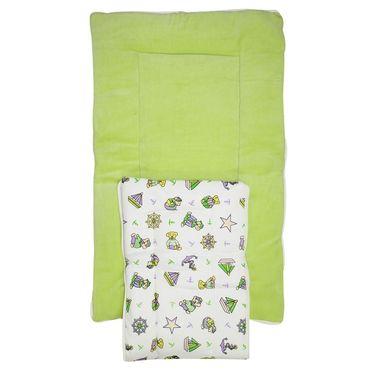 Wonderkids Green Boat Print Baby Carry Nest