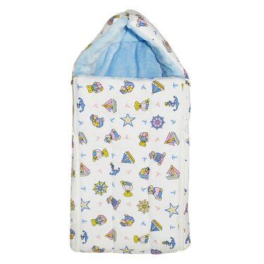 Wonderkids Blue Boat Print Baby Carry Nest