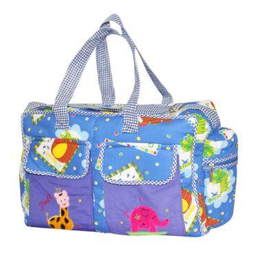 Wonderkids Blue Print Baby Diaper Bag