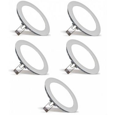 Megaway LED 3W Round LED Panel Lights- 5Pcs MWLCOMNPT101