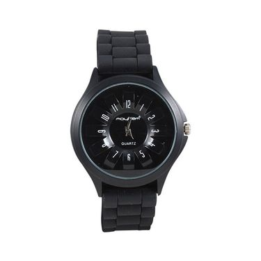Mayhem Analog Round Dial Watch_Ma2903 - Black