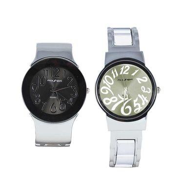 Pack of 2 Mayhem Analog Round Dial Watches_Ma2914 - Black & Grey
