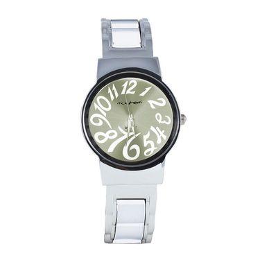 Mayhem Analog Round Dial Watch_Ma2925 - Silver & White