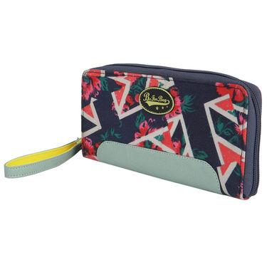 Be For Bag Canvas Blue Wallet -Madeleine