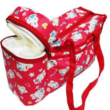 Ole Baby Premium Bunny Diaper Bag With Warmer Red_OB-DBWW-B044