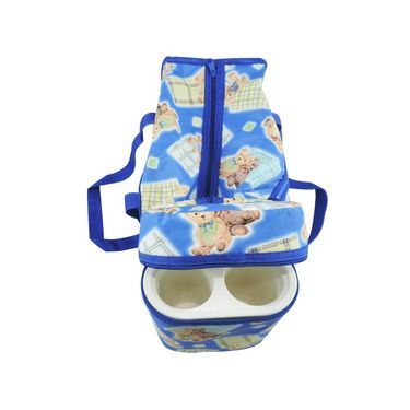 Ole Baby Premium Teddy Diaper Bag With Warmer Blue_OB-DBWW-B045