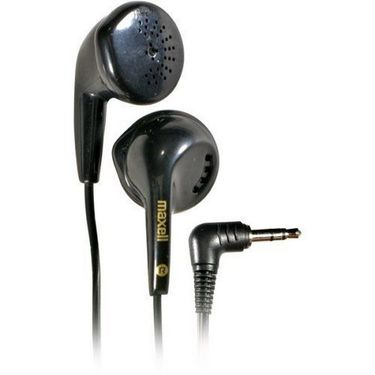 Maxell EB-95 Earphone Combo Pack - 2 Earphones + Music share Connector - Black